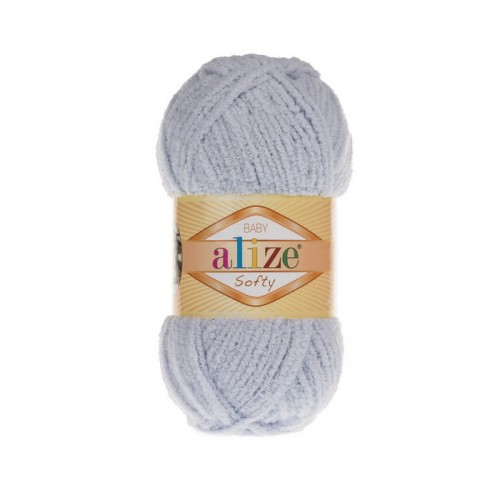 Пряжа Alize Softy,цв- серый,50 гр