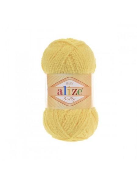 Пряжа Alize Softy,цв-жёлтый,50 гр