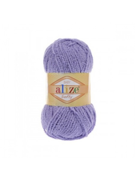 Пряжа Alize Softy,цв-лиловый,50 гр