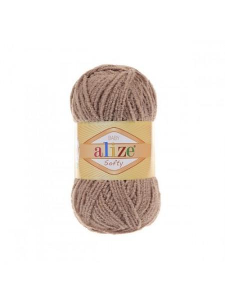 Пряжа Alize Softy,цв-св-коричневый,50 гр