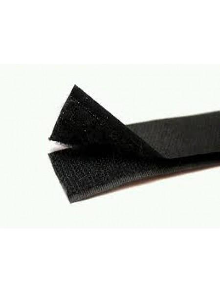 Лента-липучка, черная,20мм. цена 50 см