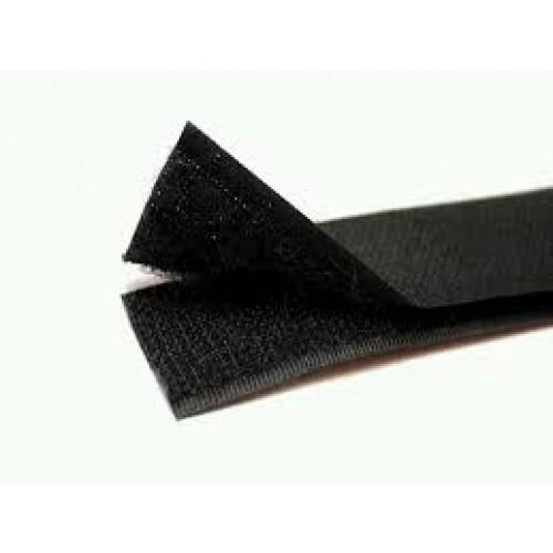 Лента-липучка, черная,25мм. цена 50 см