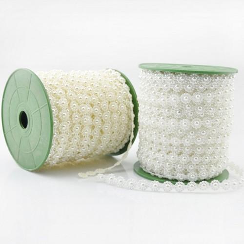 Лента пластиковая-кабашон,цвет белый,цена 1 метр