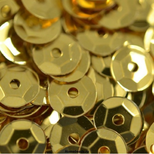 Пайетки с эффектом металлик,6 мм,№09