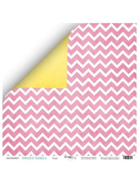Лист двухсторонней бумаги 30x30 от Scrapmir Пудра  из коллекции Sweet Girls