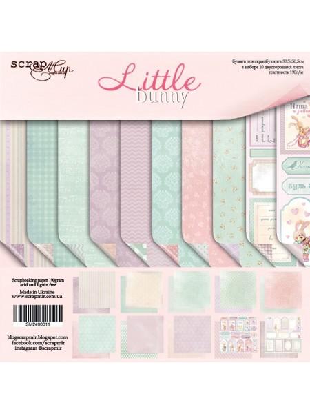 Набор двусторонней бумаги 30х30см от Scrapmir-Little Bunny