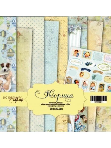 Набор односторонней бумаги 30х30см от Scrapmir-Корица