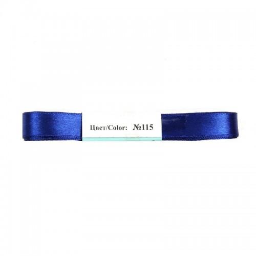 Лента атласная,6мм, в уп.5,4м,№-115,темно-синяя.Цена за уп