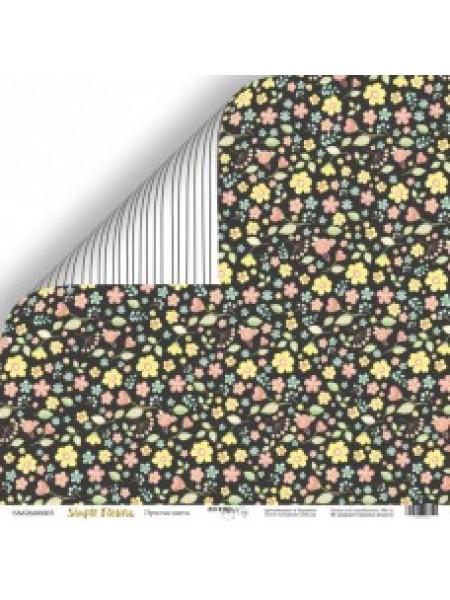 Лист двусторонней бумаги 30x30 от Scrapmir Простые цветы из коллекции Simple Flowers