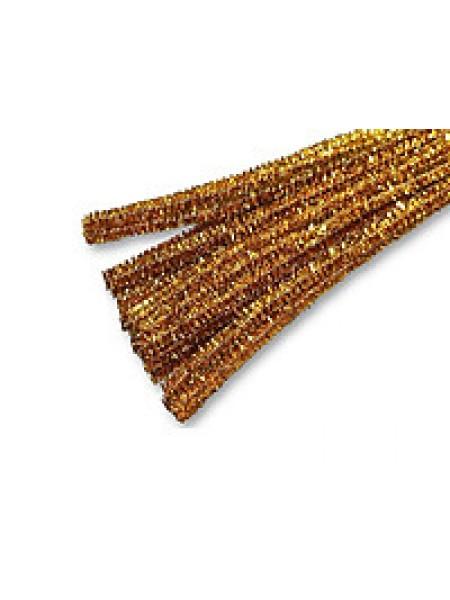 Синельная проволока(шенил)золото,цена за 10 шт