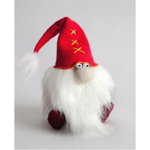 Набор для изготовления текстильной игрушки из фетра ' Красный гном', 15,5см,