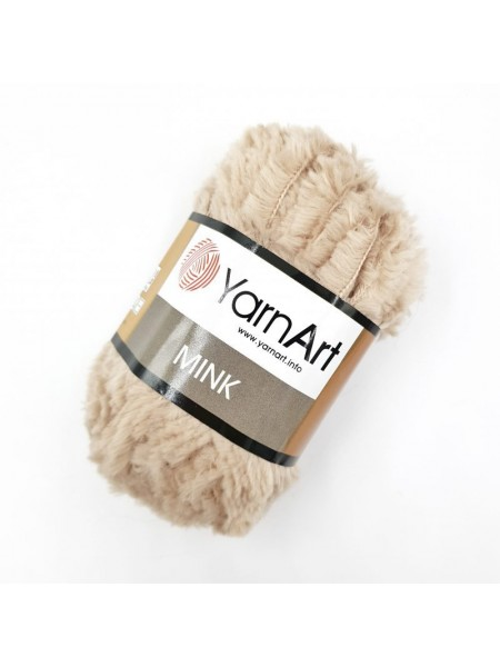 Пряжа YARNART-MINK(Минк),имитация меха.цв-бежевый,№331