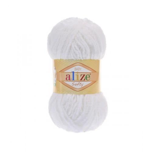Пряжа Alize Softy,цв-белый,50 гр