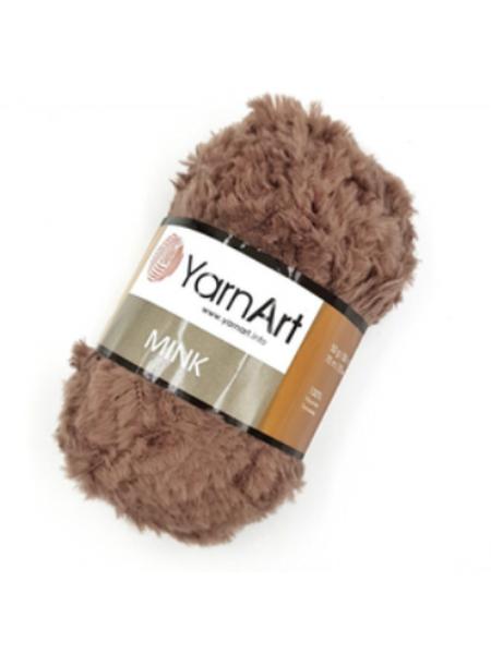 Пряжа YARNART-MINK(Минк),имитация меха.цв-тёмно-бежевый,№332