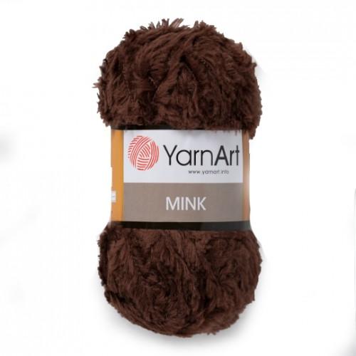 Пряжа YARNART-MINK(Минк),имитация меха.цв-коричневый,№333