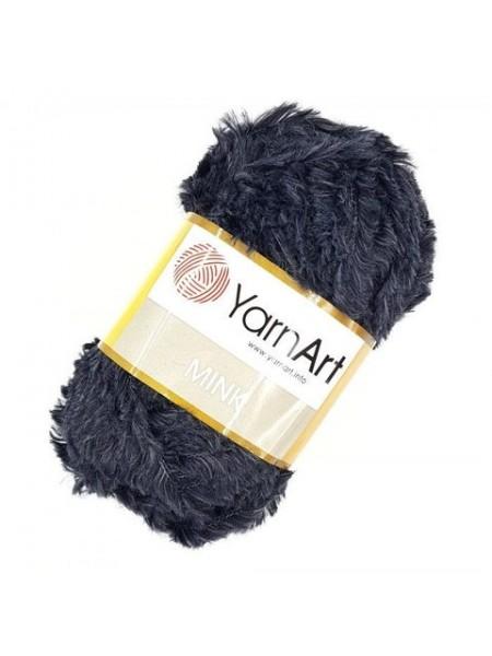 Пряжа YARNART-MINK(Минк),имитация меха.цв-графит,№336
