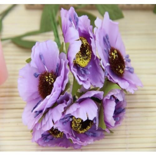 Цветок мака,цв-фиолетовый, цена за 1 шт