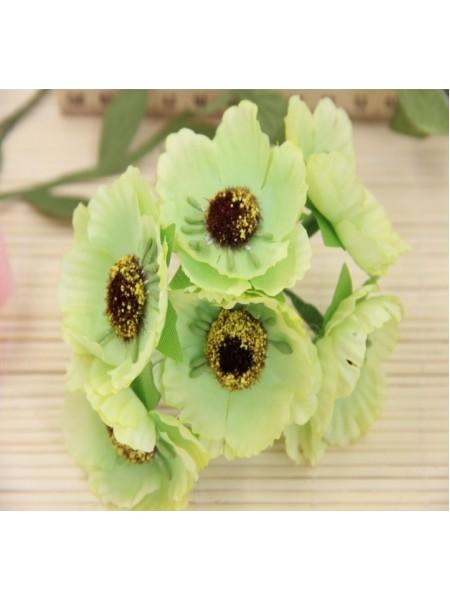 Цветок мака,цв-светло-зелёный, цена за 1 шт