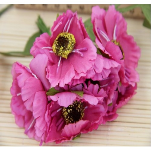 Цветок мака,цв-тёмно-розовый цена за 1 шт
