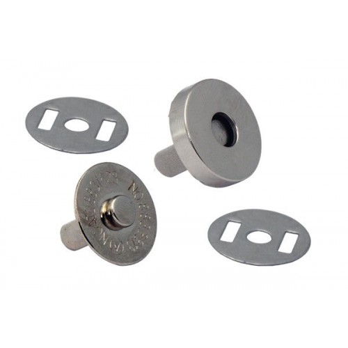 Кнопка магнитная на усиках,18 мм.цв.никель
