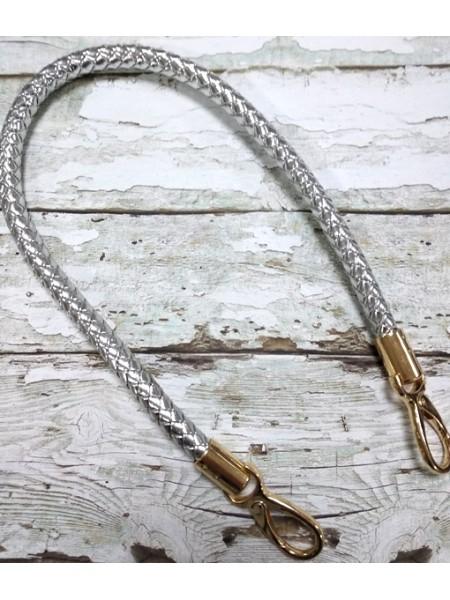 Ручка для сумки.плетёная,цв-серебро, 60см. цена за 1 шт