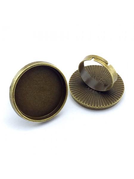 Заготовка для кольца с площадкой,25мм.цв-бронза