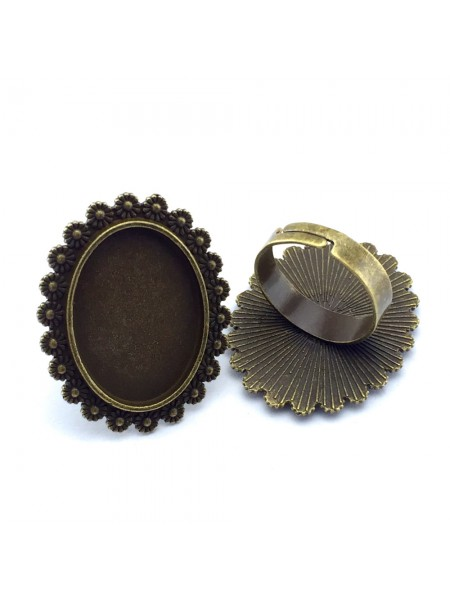 Заготовка для кольца с площадкой-18*25мм,цв-бронза