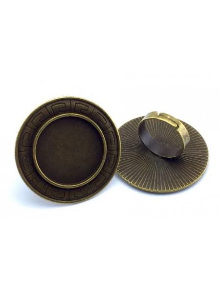Заготовка для кольца с площадкой-25 мм,цв-бронза