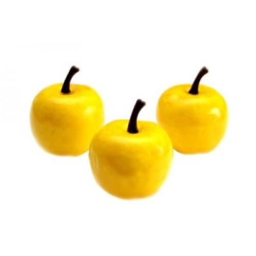 Яблочко декоративное-жёлтое,1шт