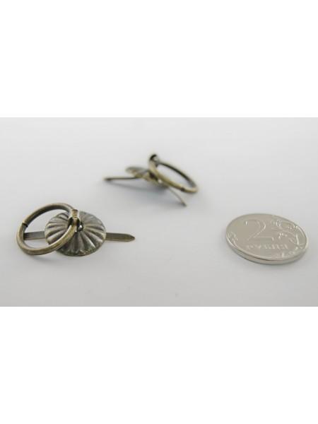 Декор. ручки для шкатулок(братс)17мм, бронза.цена за 4 шт