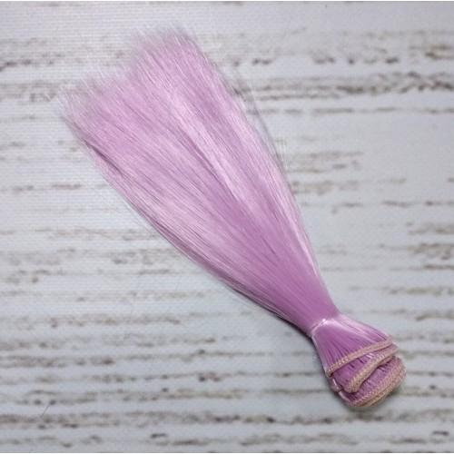 Трессы-прямые (волосы для кукол).цв-сиренево-розовый,15 см