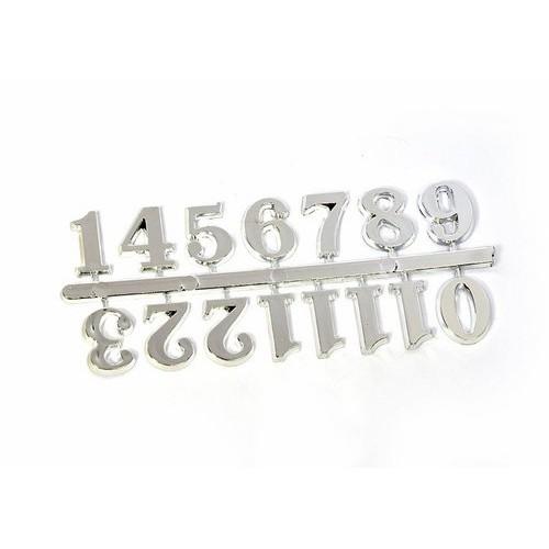 Цифры арабские 20мм (средние), пластик, цв.серебро