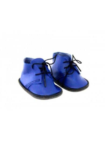 Ботиночки для куклы, синие, 8см