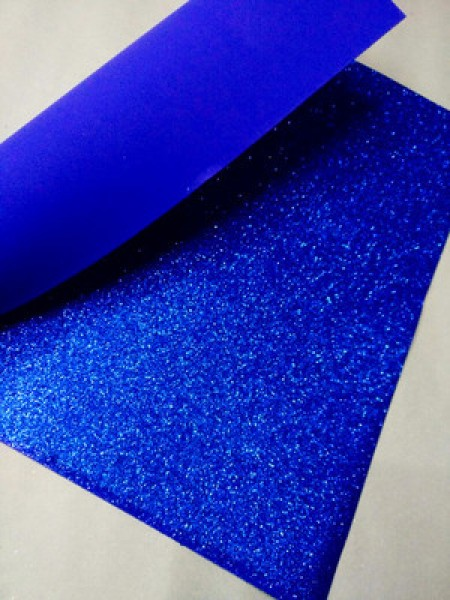 Глиттерный фоамиран, А4,цв-ярко-синий