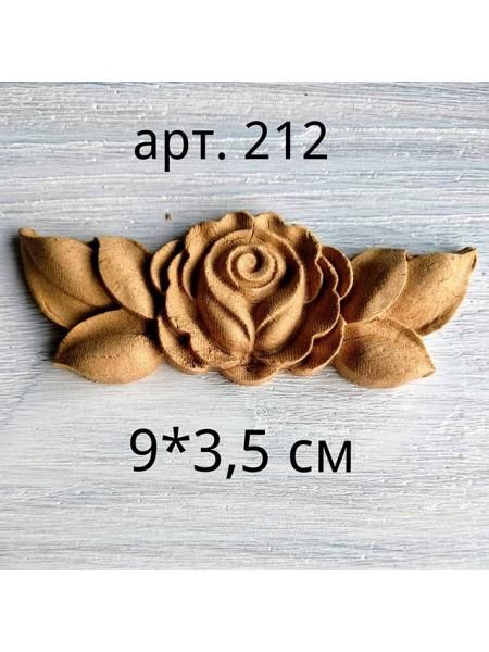 Декор из древесной пульпы-№212, 9*3,5см