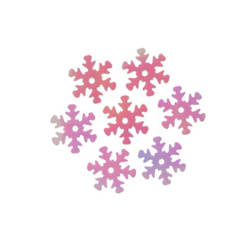 Пайетки 'снежинки',цв-св.розовый перламутр,13 мм- А51-19