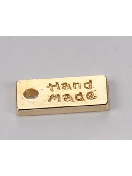 Бирочка hand-made, золото,цена за 1 шт