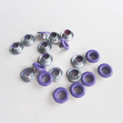Люверсы фиолетовые.4,5мм. без колечек 25 шт