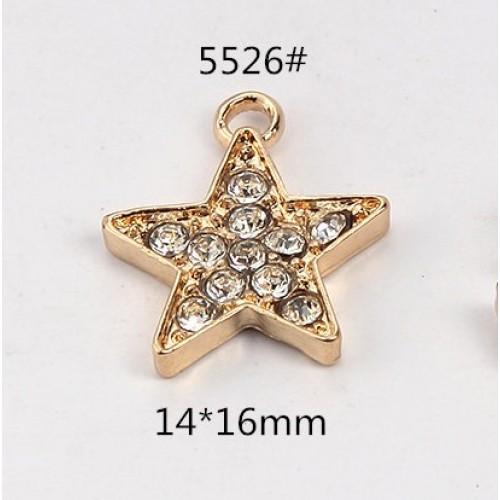 Подвеска звезда-золото,стразы ,цена за 1 шт