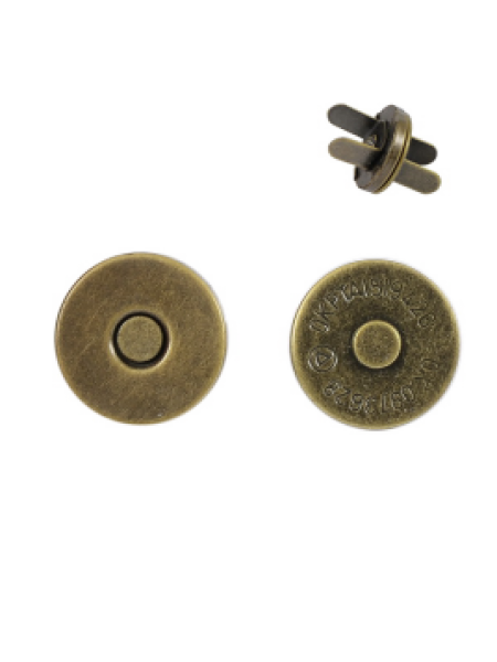 Кнопка магнитная на усиках,18 мм.цв.бронза
