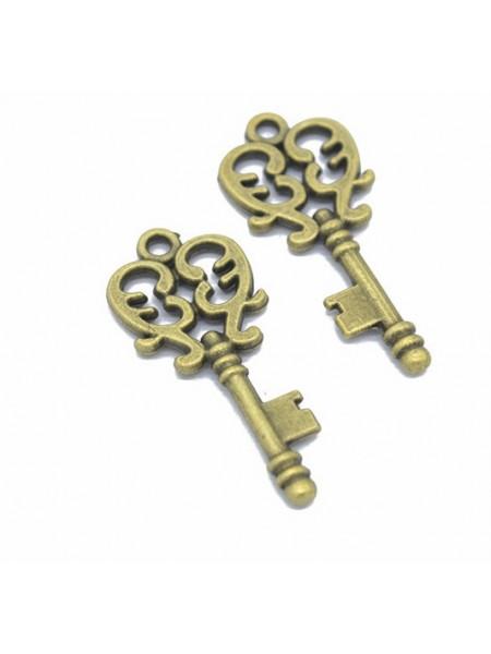 Подвеска ключик ажурный,бронза