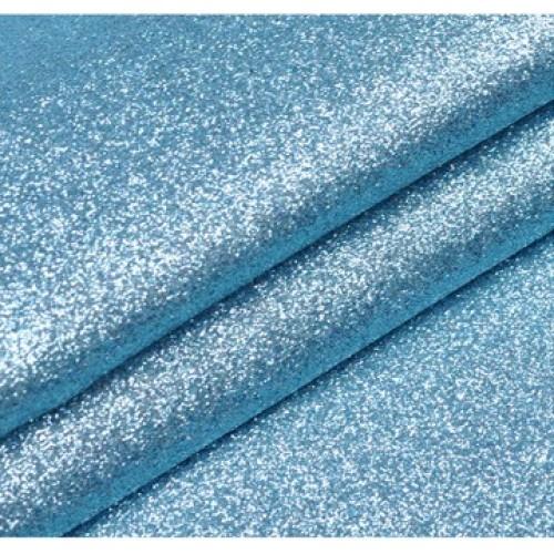 Искусственная кожа с глиттером (глиттерный кожзам),цв-голубая бирюза,22*35см