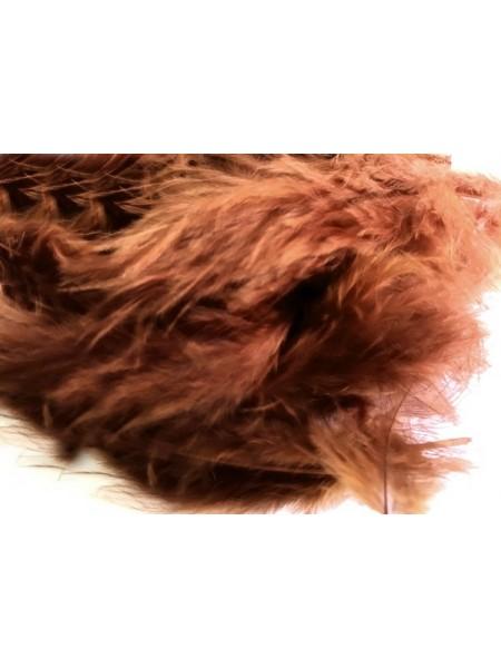 Перья декоративные,цв-коричневый.цена за уп-6гр