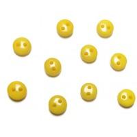 Пуговицы мини-6мм,цвет жёлтый. Цена за 1 шт