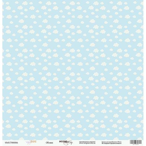 Лист односторонней бумаги 30x30 от Scrapmir Облака из коллекции Baby Boy