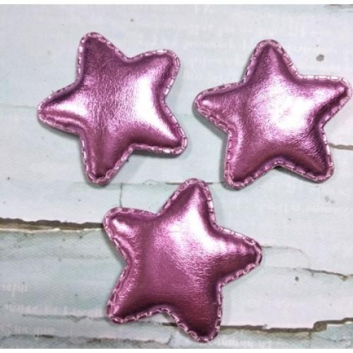 Декоративный элемент(панч)-звезда розовая