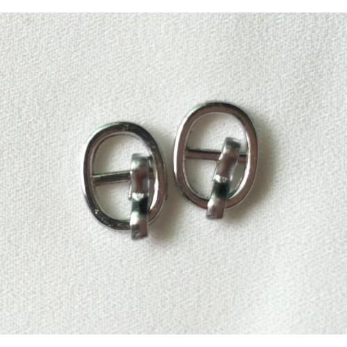 Пряжка мини 8*10мм,цв- серебро.цена за 1 шт