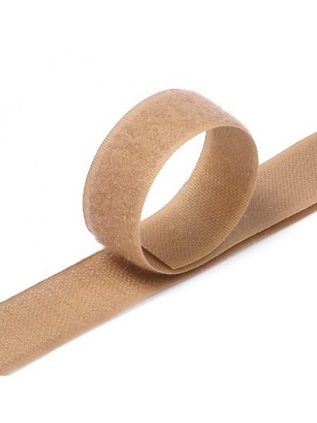 Лента-липучка,бежевая,20мм. цена 50 см