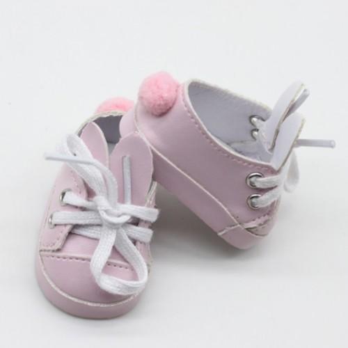 Туфли-зайки,розовые,7см,цена за пару