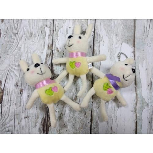 Игрушка для куклы- зайчик желтый,12 см
